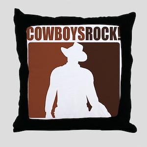 Cowboys Rock! Throw Pillow