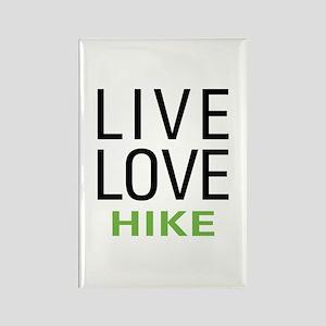 Live Love Hike Rectangle Magnet