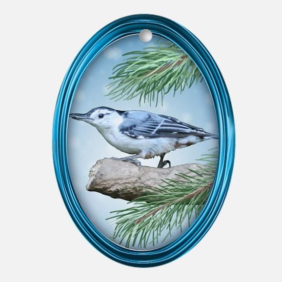 Nuthatch Oval Ornament