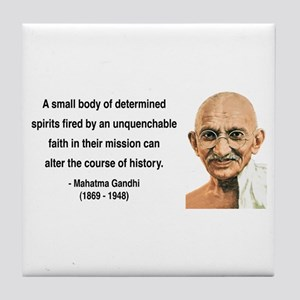 Gandhi 4 Tile Coaster