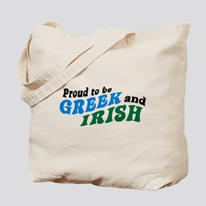 Proud Greek and Irish Tote Bag