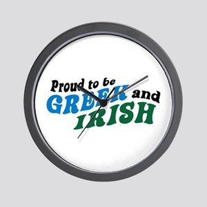 Proud Greek and Irish Wall Clock