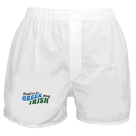 Proud Greek and Irish Boxer Shorts
