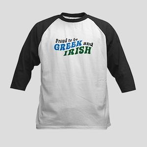Proud Greek and Irish Kids Baseball Jersey
