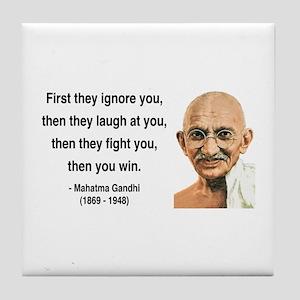 Gandhi 5 Tile Coaster