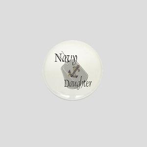 Anchor Navy Daughter Mini Button