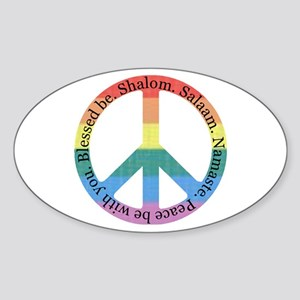 Queer Interfaith Peace Oval Sticker