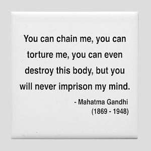 Gandhi 6 Tile Coaster