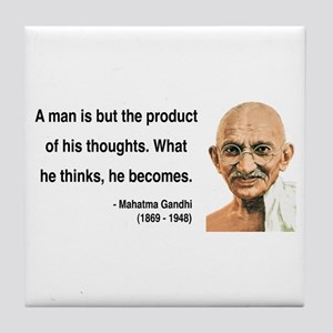 Gandhi 7 Tile Coaster