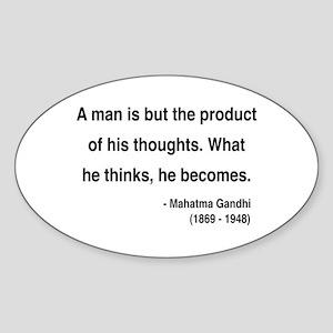 Gandhi 7 Oval Sticker