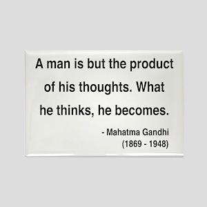 Gandhi 7 Rectangle Magnet