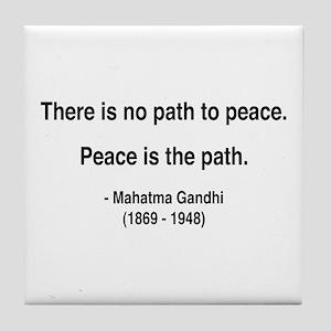 Gandhi 8 Tile Coaster