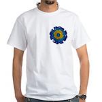 Flower Brooch 2 White T-Shirt