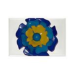 Flower Brooch 2 Rectangle Magnet