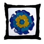 Flower Brooch 2 Throw Pillow