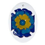 Flower Brooch 2 Ornament (Oval)