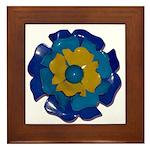 Flower Brooch 2 Framed Tile
