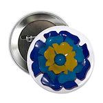 "Flower Brooch 2 2.25"" Button"