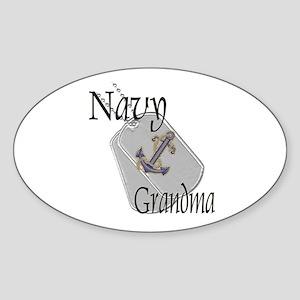 Anchor Navy Grandma Oval Sticker