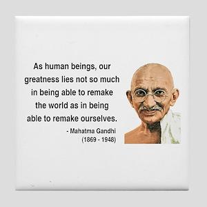 Gandhi 9 Tile Coaster