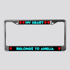 My Heart: Amelia (#003) License Plate Frame