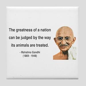 Gandhi 10 Tile Coaster