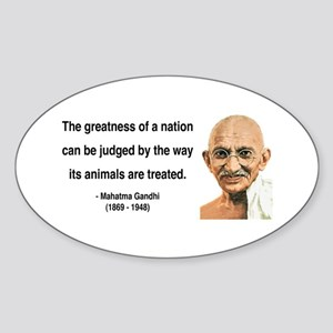 Gandhi 10 Oval Sticker