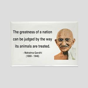 Gandhi 10 Rectangle Magnet