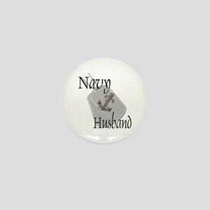 Anchor Navy Husband Mini Button