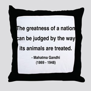 Gandhi 10 Throw Pillow