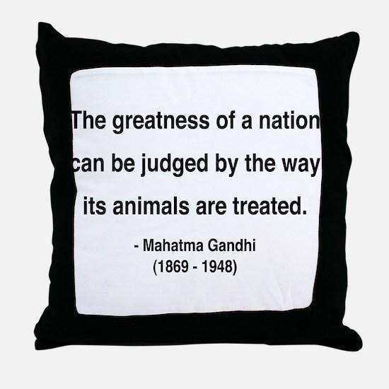 Gandhi 10 Throw Pillow