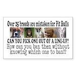 Doggie Line-up Sticker (Rectangle)