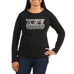 Doggie Line-up Women's Long Sleeve Dark T-Shirt