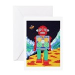 Gear robot- greeting card
