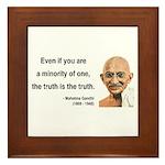 Gandhi 12 Framed Tile