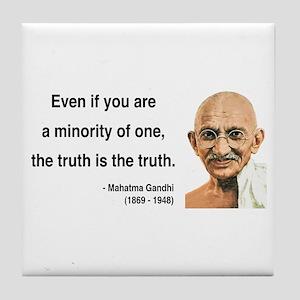 Gandhi 12 Tile Coaster