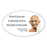 Gandhi 12 Oval Sticker