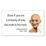 Gandhi 12 Rectangle Sticker