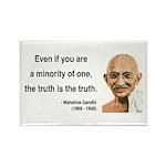 Gandhi 12 Rectangle Magnet (10 pack)
