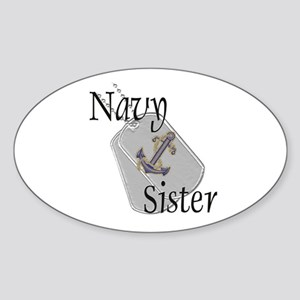 Anchor Navy Sister Oval Sticker