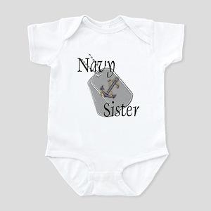Anchor Navy Sister Infant Bodysuit