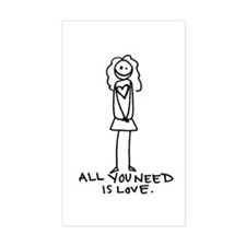 All You Need (b) Rectangle Sticker