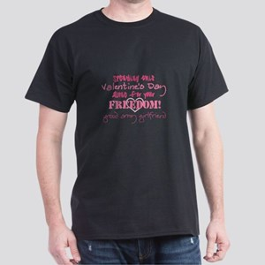 Valentine's Day - Army Girlfr Dark T-Shirt
