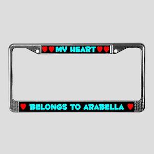 My Heart: Arabella (#003) License Plate Frame