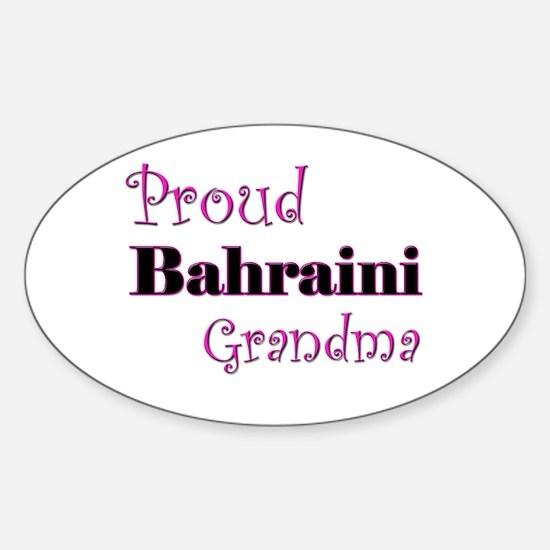 Proud Bahraini Grandma Oval Decal