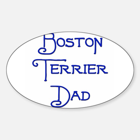Boston Dad 18 Oval Decal
