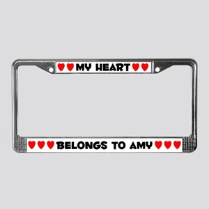 My Heart: Amy (#004) License Plate Frame