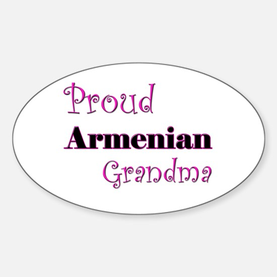 Proud Armenian Grandma Oval Decal