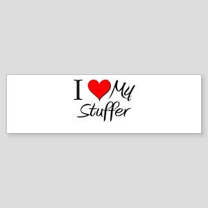 I Heart My Stuffer Bumper Sticker