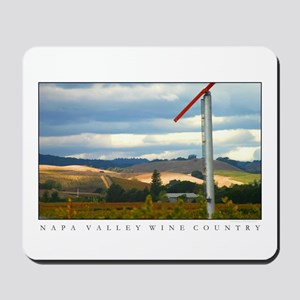 Napa Valley Sunlit Hills Windmill Mousepad